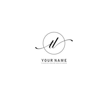 TL Initial beauty monogram logo vector