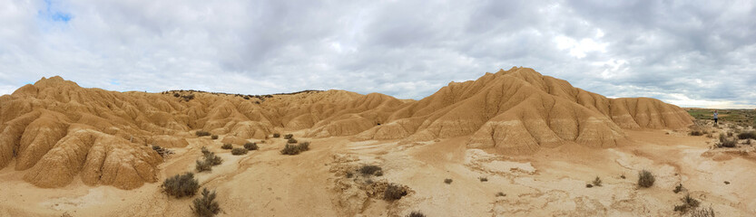 The Bardenas Reales is a semi-desert natural region or badlands in the southeast of Navarre.