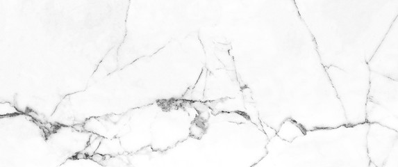 Obraz White Carrara Marble Texture Background With Curly Grey-Brown Colored Veins, It Can Be Used For Interior-Exterior Home Decoration and Ceramic Decorative Tile Surface, Wallpaper, Architectural Slab. - fototapety do salonu
