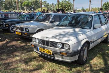 RAMAT-GAN, ISRAEL - OCTOBER 6, 2017: A few vintage BMW presented on annual oldtimer car show, Israel