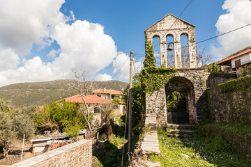 Andritsaina, Greece. Church of Saint John (Agios Ioannis) in this scenic town in the mountainous interior of the Peloponnese peninsula