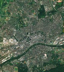 Printed kitchen splashbacks Nasa High resolution Satellite image of Frankfurt, Germany (Isolated imagery of Germany. Elements of this image furnished by NASA)