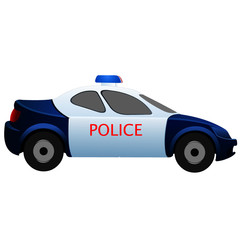 Police Car - Cartoon Vector Image