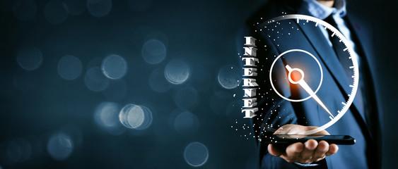 sharp acceleration of internet speed.