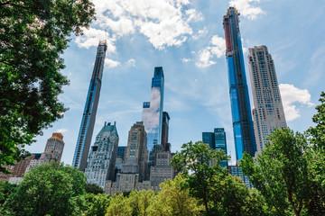 Manhattan skyscrapers in New York City, the USA