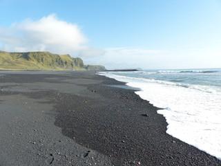 Black beach at Vik, Iceland.