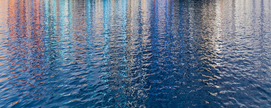 Abstract rippled water surface texture