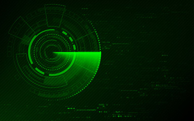 Radar scan searching abstract technology background