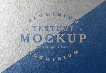 Aluminum Texture Text Effect