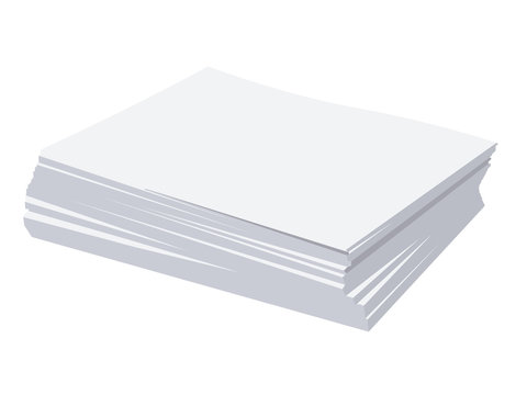 Stack of paper realistic vector illustration isolated