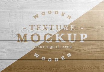 Wooden Planks Texture Text Effect