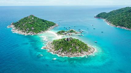 Amazing in nature, Beautiful Koh Nang Yuan island, Koh Nangyuan, Koh tao, Surat Thani, Thailand....
