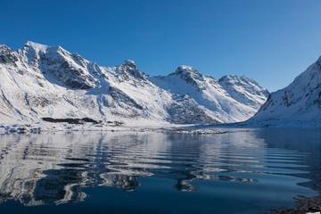 Winter in Fredvang auf den Lofoten