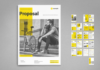 Proposal Layout with Yellow Accents