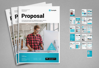 Proposal Layout with Blue Elements