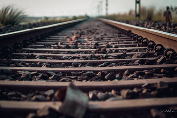Photo sur Aluminium Voies ferrées railroad tracks