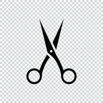 scissors icon symbol design flat vector