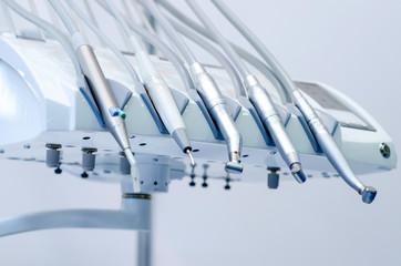 Dentist's office, dentist medical instruments. Dentist tools.
