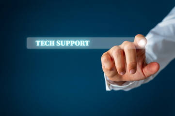 Tech support search bar