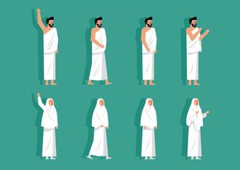 Couple character of Hajj