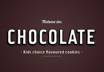 Retro Chocolate Style Text Effect
