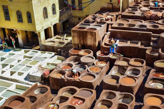 Medina de Fez - Curtiembres