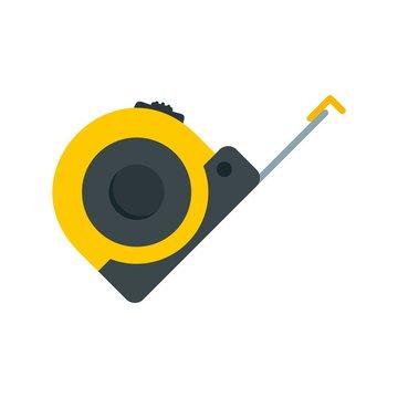 Tape measure icon. Flat illustration of tape measure vector icon for web design