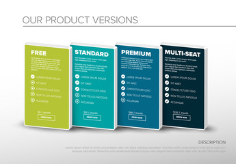 Product Option Features Infographic
