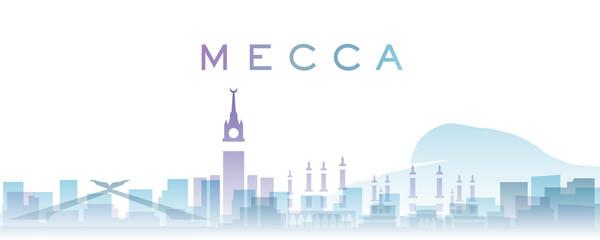 Mecca Transparent Layers Gradient Landmarks Skyline