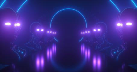 abstract cyberpunk neon backdrop