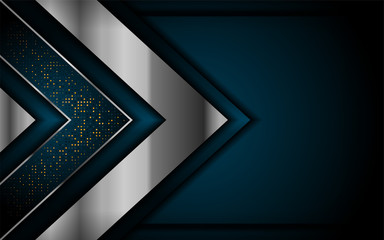 luxurious dark navy background with silver lines. elegant modern background. Wall mural