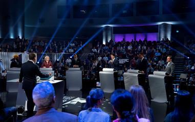 Federal leaders French language debate in Gatineau