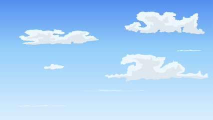 Keuken foto achterwand Hemel Landscape blue sky and white clouds on sunny day.Sky and cloud background.cartoon sky concetp.Vector illustration
