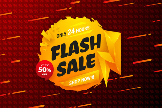 Flash sale background with orange color and red percent pattern. can be edited according to what you need.