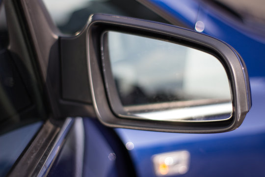 Side rear view mirror on the car