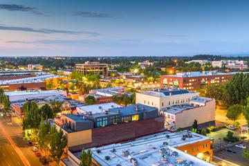 Fototapete - Salem, Oregon, USA downtown city skyline