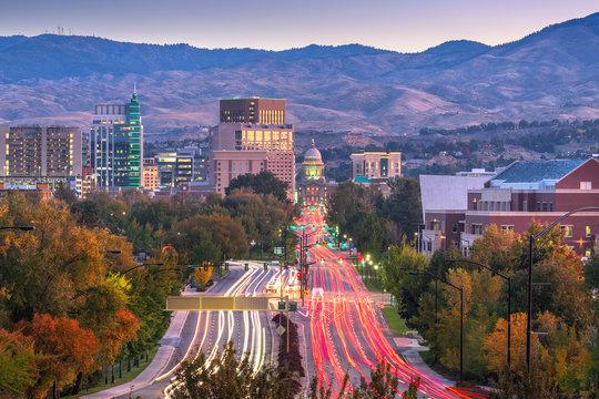 Boise, Idaho, USA Downtown