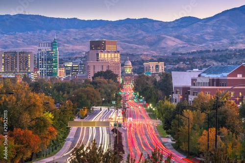 Fototapete Boise, Idaho, USA Downtown