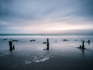 Beach at blue hour at Rossbeigh county kerry ireland