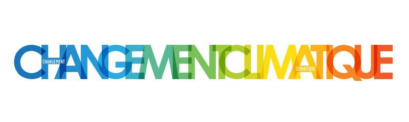 Bannière typographique vecteur CHANGEMENT CLIMATIQUE