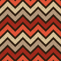 Foto op Canvas Boho Stijl Zigzag. Ethnic boho seamless pattern. Lace. Embroidery on fabric. Patchwork texture. Weaving. Traditional ornament. Tribal pattern. Folk motif. Vector illustration for web design or print.