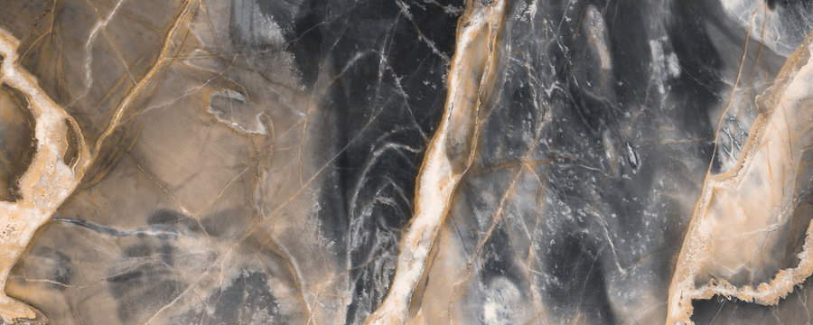 Black marble texture background with golden veins, Black marble natural pattern for background, Abstract black white and gold, Black and yellow marble for ceramic wall and floor tiles.