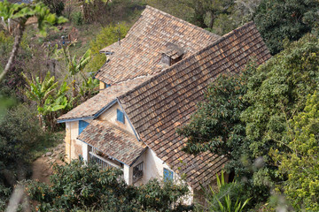 Top view of a large house on Madagascar