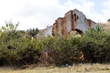 Old rural building in the countryside of Madagascar