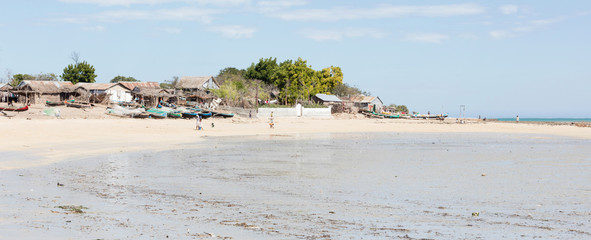 Fishermans village in the south of Madagascar