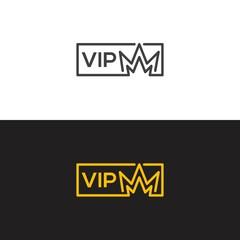 VIP membership. Vector icon template