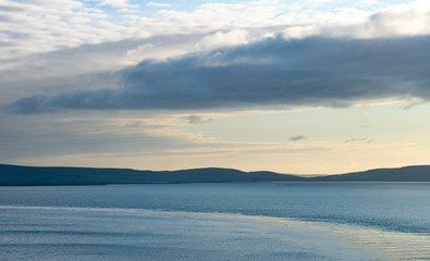 Orkney charming seascape at sunset