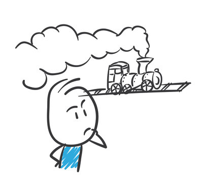 Stickman Blue: Train, Thoughts. (Nr. 134)