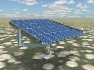 Solaranlage in einer Landschaft