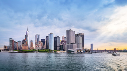 skyline of manhattan, new york
